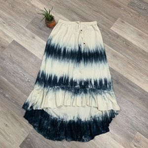 Rip curl high low Tie dye Maxi Skirt